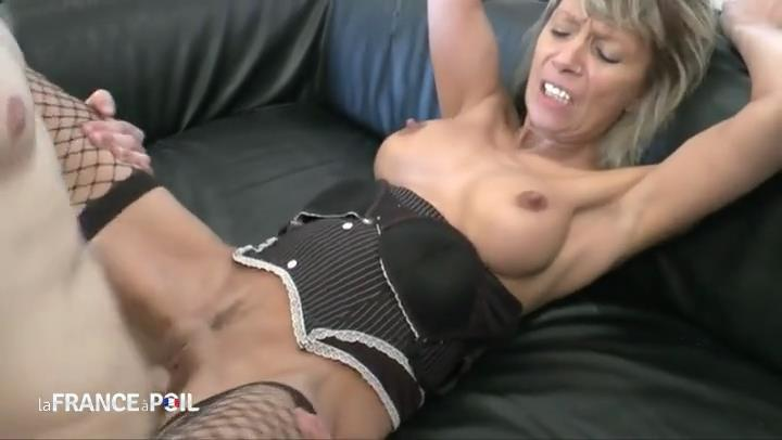 Nice dressed French cougar Shana gets her ass nailed