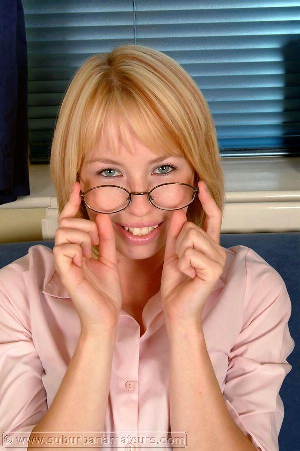 Glasses and suburban stockings